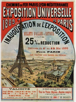 Paris Exposition 1889 poster