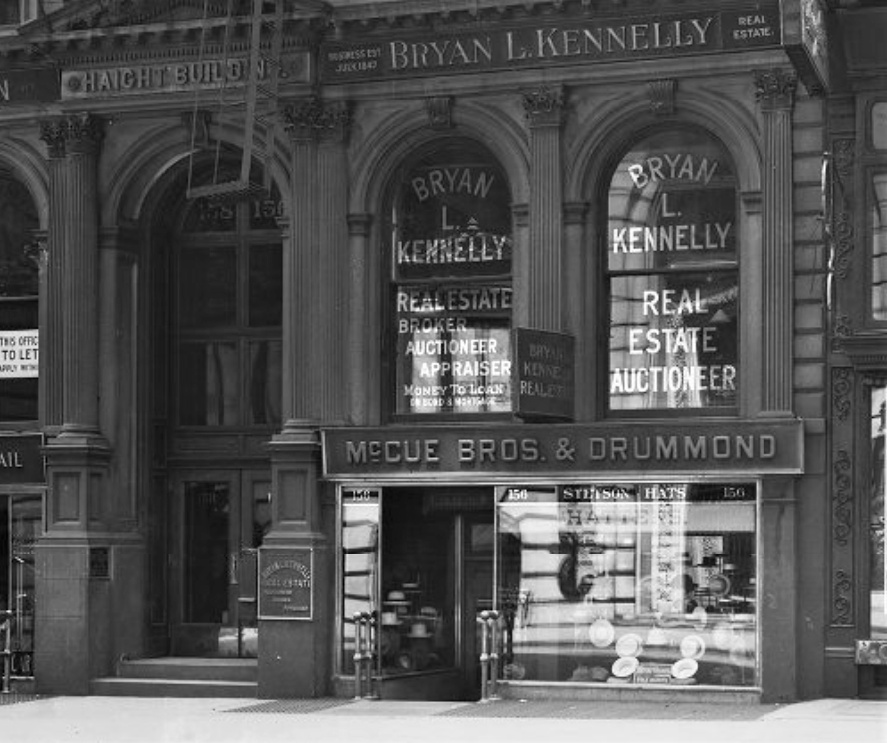 Bryan L. Kennelly real estate office in the Haight Building, 156 Broadway, New York City, June 7, 1914 from dcmny.org