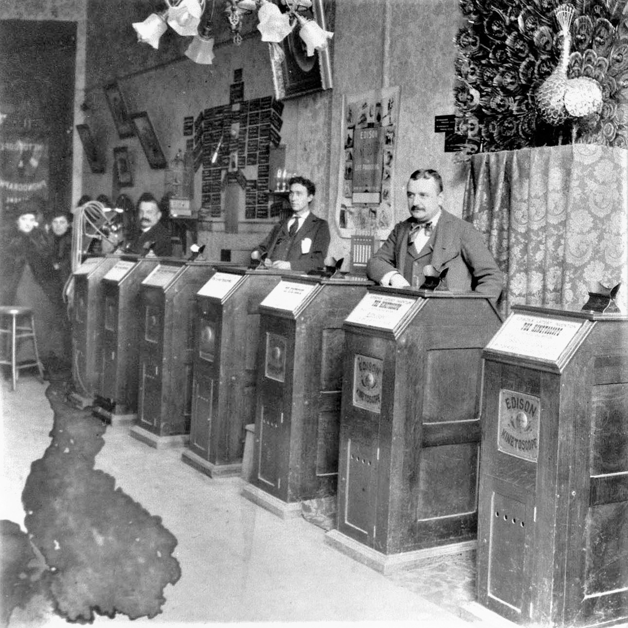 Kinetoscope parlour in Chicago